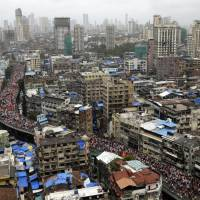 200,000 protesters grind India financial hub of Mumbai to halt to demand jobs, college