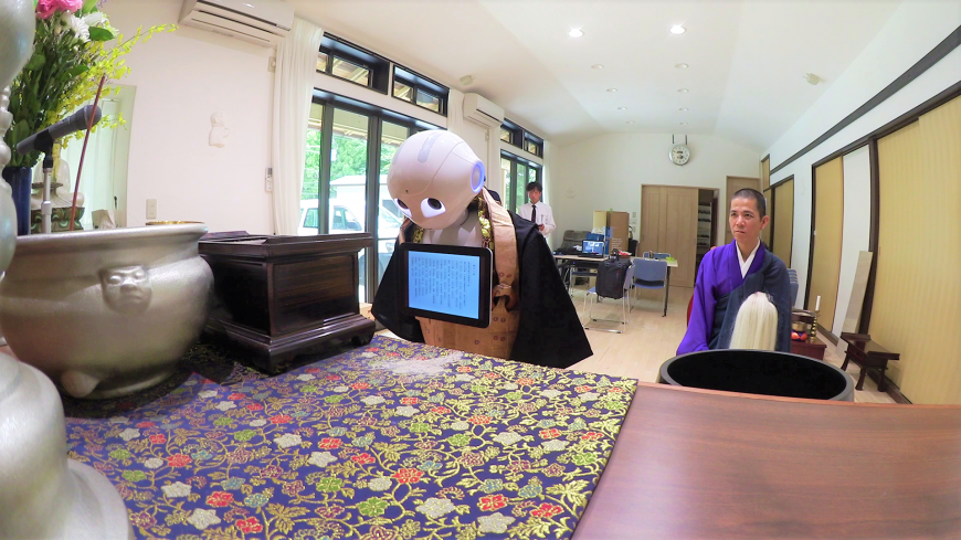 Pepper the robot to don Buddhist robe for its new funeral services role