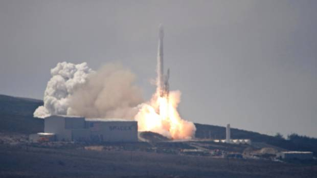 SpaceX launches Taiwan's first home-built satellite; rocket lands on platform in Pacific