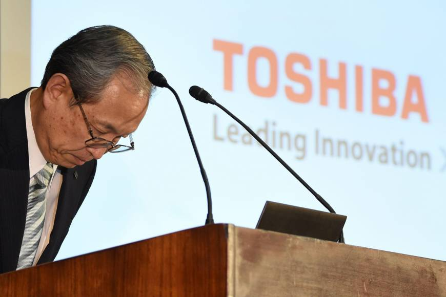 Toshiba ducks delisting by submitting long overdue financial report