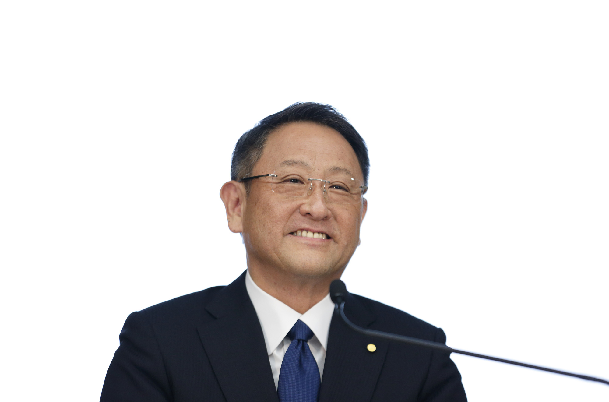 Toyota chief Akio Toyoda has opened an account on Weibo seeking to make friends in China. | BLOOMBERG