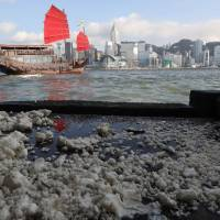 Palm oil spill in Hong Kong prompts closure of 10 popular beaches