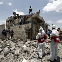 Saudi airstrikes hit hotel near Houthi checkpoint, killing at least 35 in Yemen