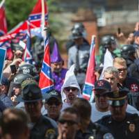 American extreme right plans unity rally in small Virginia town, faces counterprotest