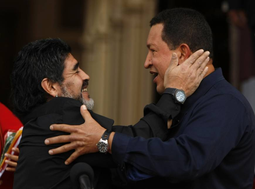Argentine soccer great Maradona vows to be 'soldier' for Maduro, gets Caracas opposition invite to view disaster