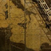Part of a map showing the central Mediterranean is seen in the map room at the Combined Operations Centre, dating back to World War II, in the War Headquarters tunnels beneath Valletta in March. | REUTERS