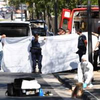 Man with psychiatric problems drives stolen van into two Marseille bus stops, killing one