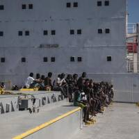 Eight migrants dead off Libya, 500 rescued as Italy prepares naval mission, pushes NGO rules