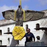 Uruguay debates hiding or displaying Nazi eagle salvaged from feared WWII ship