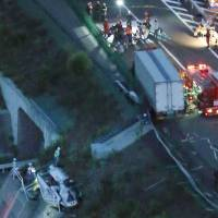 Two dead, 10 injured on Shikoku after truck rams bus filled with students