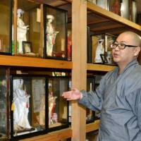 Japanese dolls representing lost loved ones' marriage hopes find way to Aomori temple