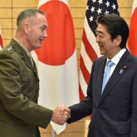 Top U.S. general reaffirms commitment to Japan amid North Korea tensions