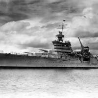 The World War II cruiser USS Indianapolis, which was sunk by Japanese torpedoes on July 30, 1945, is seen at Pearl Harbor, Hawaii, in 1937. | REUTERS