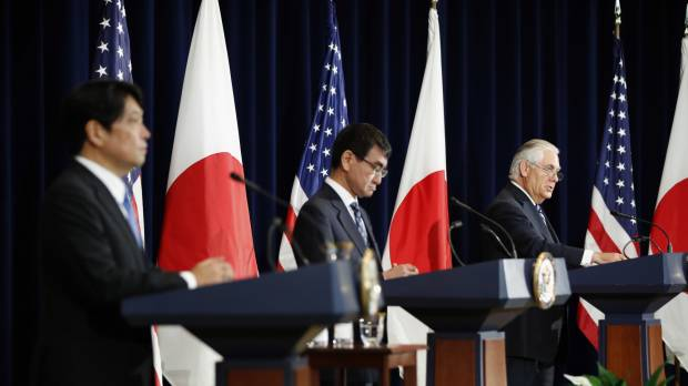 U.S., Japan vow unity against North in 'two-plus-two' talks