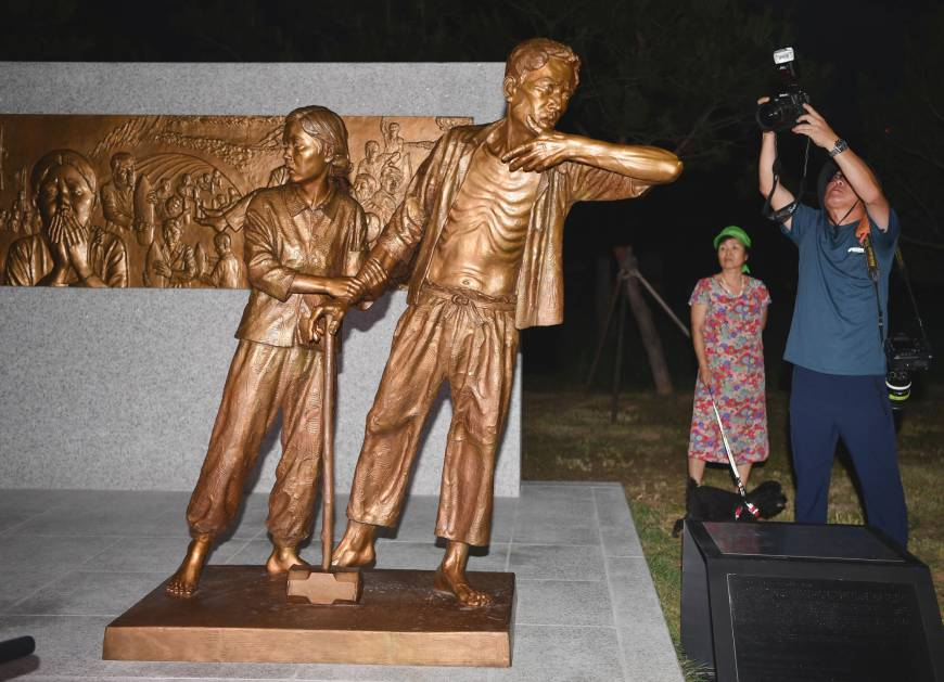 Korean statue symbolizing wartime forced labor victims erected in Seoul