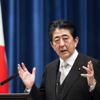 Abe reaffirms plan to complete doubling of consumption tax in 2019