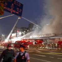 Fire near Tsukiji fish market extinguished after 15-hour battle; no injuries reported