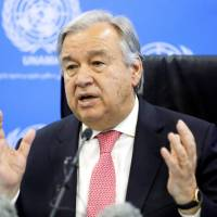 Japan working on getting U.N. chief Guterres to visit by year's end