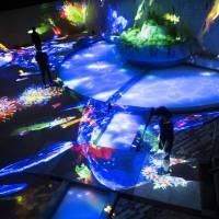 'Graffiti Nature — Living in the Ruins of a Bathhouse,' 'A Forest Where Gods Live' | COURTESY OF TEAMLAB