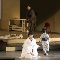 No luck: Cio-Cio San makes a sad choice for her child during a performance of 'Madama Butterfly' that was staged for high school students last month. | © MASAHIKO TERASHI
