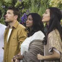 Good things come in threes: 'The Shack' stars (from left) Avraham Aviv Alush, Sam Worthington, Octavia Spencer and Sumire Matsubara. | © 2017 SUMMIT ENTERTAINMENT, LLC. ALL RIGHTS RESERVED