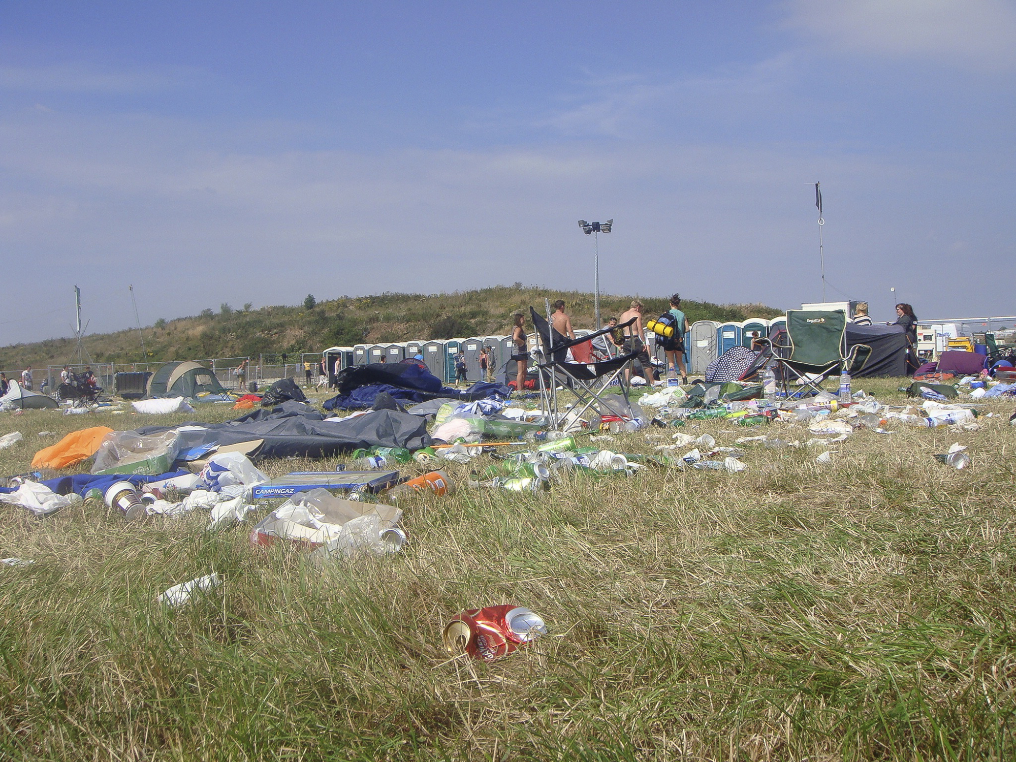 Total rubbish: Campers leave the Beach Break music event in Wales in 2011. Fuji Rock Festival prides itself on being one of the most environmentally friendly music events in the world, but some attendees worry that it will fall prey to the litter problems that plague other outdoor concerts.   GETTY IMAGES