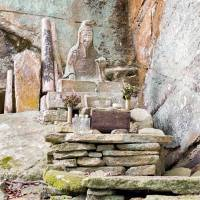 Holy man: This statue of Rishu Sennin, who founded Horaiji Temple, is located deep in the mountain where he is said to have performed sacred rituals and ascetic spiritual practice.  Alon Adika