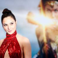Simply wonderful: Gal Gadot attends the premiere of 'Wonder Woman' in Los Angeles in May. The film opens in Japan later this month. | REUTERS
