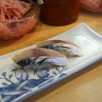 Perfectly balanced: Lightly pickled aji (horse mackerel) at Sushi Masa. | J.J. O'DONOGHUE