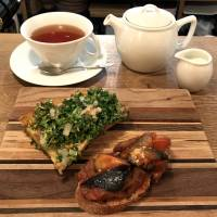 All set: Tea and tartines served at the eat-in counter at 365 Nichi. | ROBBIE SWINNERTON