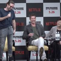 Netflix's War Machine press conference in Tokyo with Brad Pitt on May 22. | DANIEL SMITH