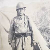 Off to war: Kaoru Ogura fought in the Imperial Japanese Army during the war but devoted the rest of his life to peace activism and the antinuclear movement. | COURTESY OF KEIKO OGURA