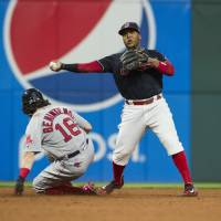 Throwing error sends Indians past Red Sox