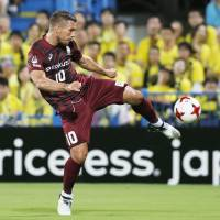 Frustrated Podolski tastes defeat in J. League for first time as Vissel falls to Kashiwa