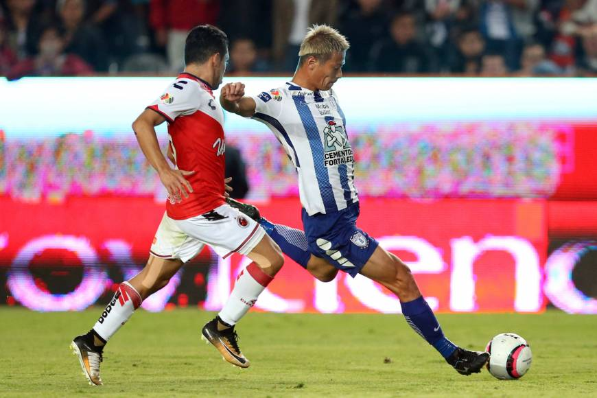 Honda scores in debut for Mexico's Pachuca