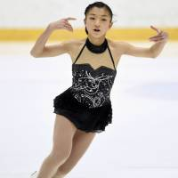 Kaori Sakamoto, the Japan junior champion last season, will be one of the contenders for the two women's spots on the Olympic team this season. | KYODO