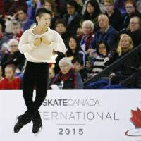 Daisuke Murakami, seen here at Skate Canada in 2015, is hoping to join Yuzuru Hanyu and Shoma Uno on Japan's Olympic team for the 2018 Games. | AP