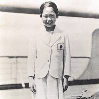 Etsuko Inada, seen here in her Olympic uniform at age 12, was the first female to skate for Japan at the Olympics. She finished 10th in a field of 26 at the 1932 Winter Games in Garmisch-Partenkirchen, Germany.