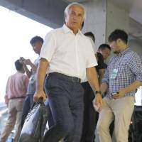 Japan manager Vahid Halilhodzic is seen at Saturday's match between FC Tokyo and Kawasaki Frontale at Todoroki Stadium in Kawasaki. | KYODO
