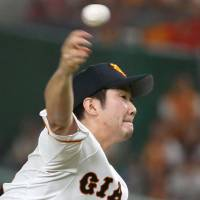 Giants' Sugano continues winning ways against BayStars