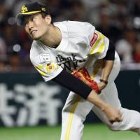 Hawks' Senga improves to 6-0 against Fighters this season