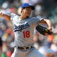 Maeda comes unglued in sixth against Tigers