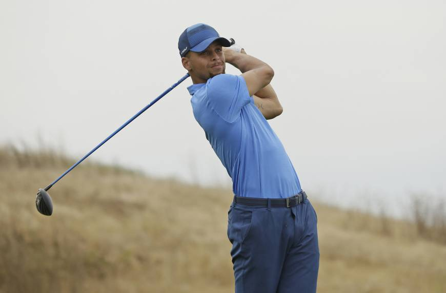 Curry shoots a 74 in pro golf debut