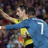 Ronaldo banned for five games after pushing ref