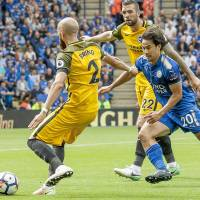 Okazaki strikes early in victory over Brighton