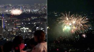 [VIDEO] Jingu Gaien Fireworks Festival from atop Roppongi Hills