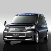 Many Tokyo taxi companies plan to introduce indigo-colored minivans to be known as 'Blue Cabs' ahead of the 2020 Tokyo Olympics and Paralympics. | TOYOTA MOTOR CORP. / VIA KYODO