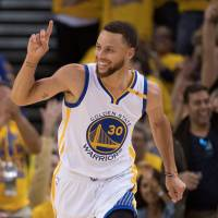 The National Basketball Association's Golden State Warriors have inked a logo deal — reportedly worth ¥6.6 billion — over three years with Japanese e-commerce giant Rakuten. | USA TODAY/ VIA REUTERS, KYODO