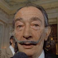 Spanish surrealist painter Salvador Dali presents his first Chrono-Hologram in Paris on May 21, 1973. | AP
