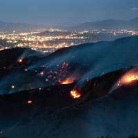 Largest wildfire in Los Angeles history forces hundreds to evacuate